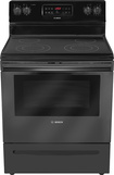 "Bosch - Evolution 300 Series 30"" Self-Cleaning Freestanding Electric Range - Black"