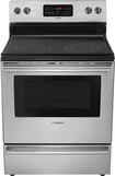 "Bosch - Evolution 300 Series 30"" Self-Cleaning Freestanding Electric Range - Stainless-Steel"