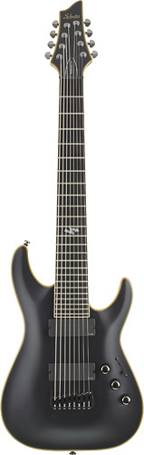 Schecter - Blackjack ATX C-8 8-String Full-Size Electric Guitar - Aged Black Satin