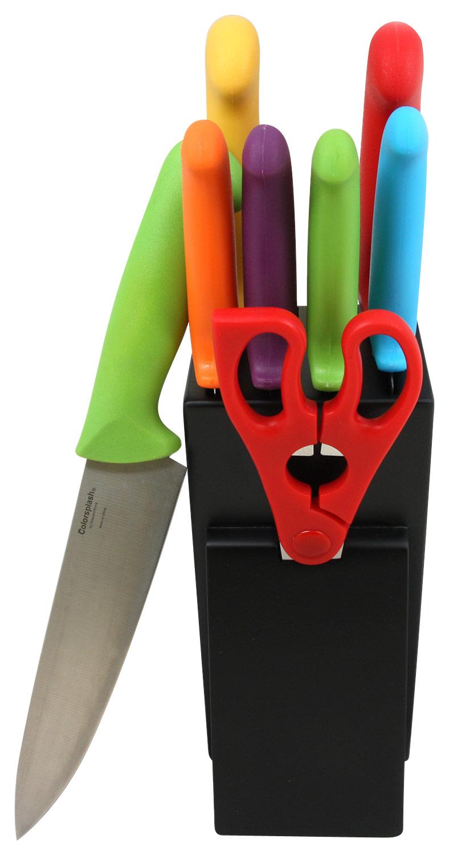 Gibson - Colorsplash Ferrisburg 9-Piece Knife Set - Black/Multi