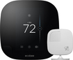 ecobee - ecobee3 Wi-Fi Smart Thermostat with Remote Sensor - Black