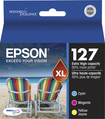 Epson - 127 XL 3-Pack High-Yield Ink Cartridges - Yellow/Cyan/Magenta