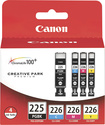 Canon - PGI-225/CLI-226 ChromaLife100+ Ink Tank 4-Pack - Black, Cyan, Magenta, Yellow