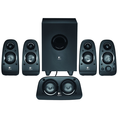 Logitech - Z506 5.1 Surround Sound Speakers (6-Piece) - Black