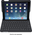 Logitech - Type+ Keyboard Case for Apple® iPad® Air - Carbon Black