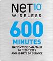 NET10 - $45 Prepaid Airtime Card