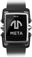 MetaWatch - M1 Smart Watch for Select Apple® iOS and Android Devices - Stainless-Steel/Black