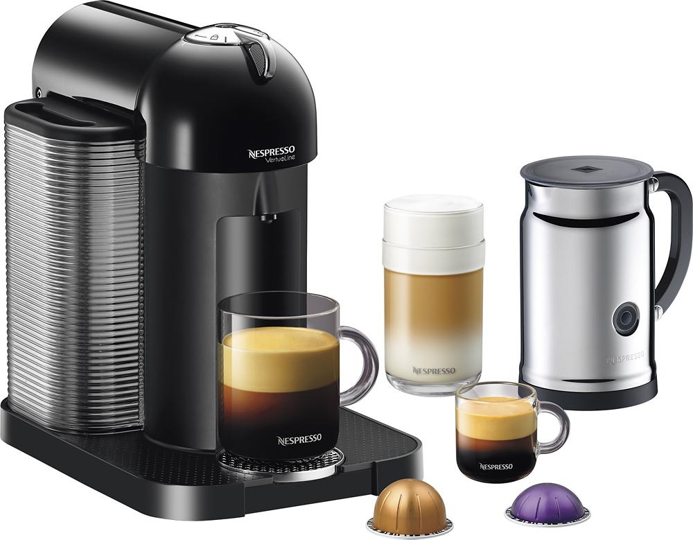 Nespresso - Vertuoline Espresso Maker with Aeroccino+ Milk Device - Black