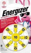 Energizer - 10 Alkaline Zinc-Air Batteries for Most Hearing Aids (8-Pack) - Silver