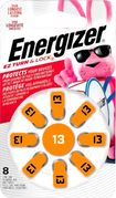 Energizer - 13 Alkaline Zinc-Air Batteries for Most Hearing Aids (8-Pack) - Silver