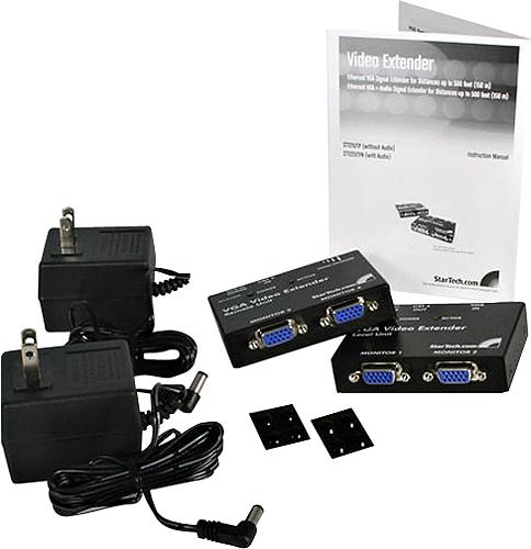 StarTech - VGA Video Extender Over Cat-5 Kit - Black