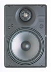 "Niles - 8"" 2-Way High-Definition In-Wall Loudspeakers (Pair) - Black"