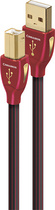 AudioQuest - Cinnamon 4.9' USB A/B Cable - Black/Red