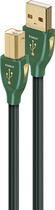 AudioQuest - Forest 2.5' USB A/B Cable - Black/Green