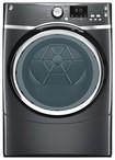 GE - 7.5 Cu. Ft. 10-Cycle Steam Gas Dryer - Diamond Gray