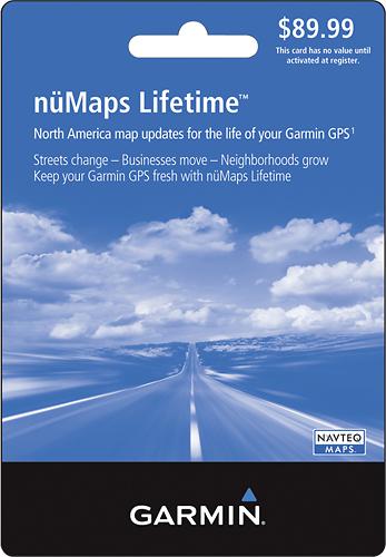 Garmin - nüMaps Lifetime Update Card - Multi