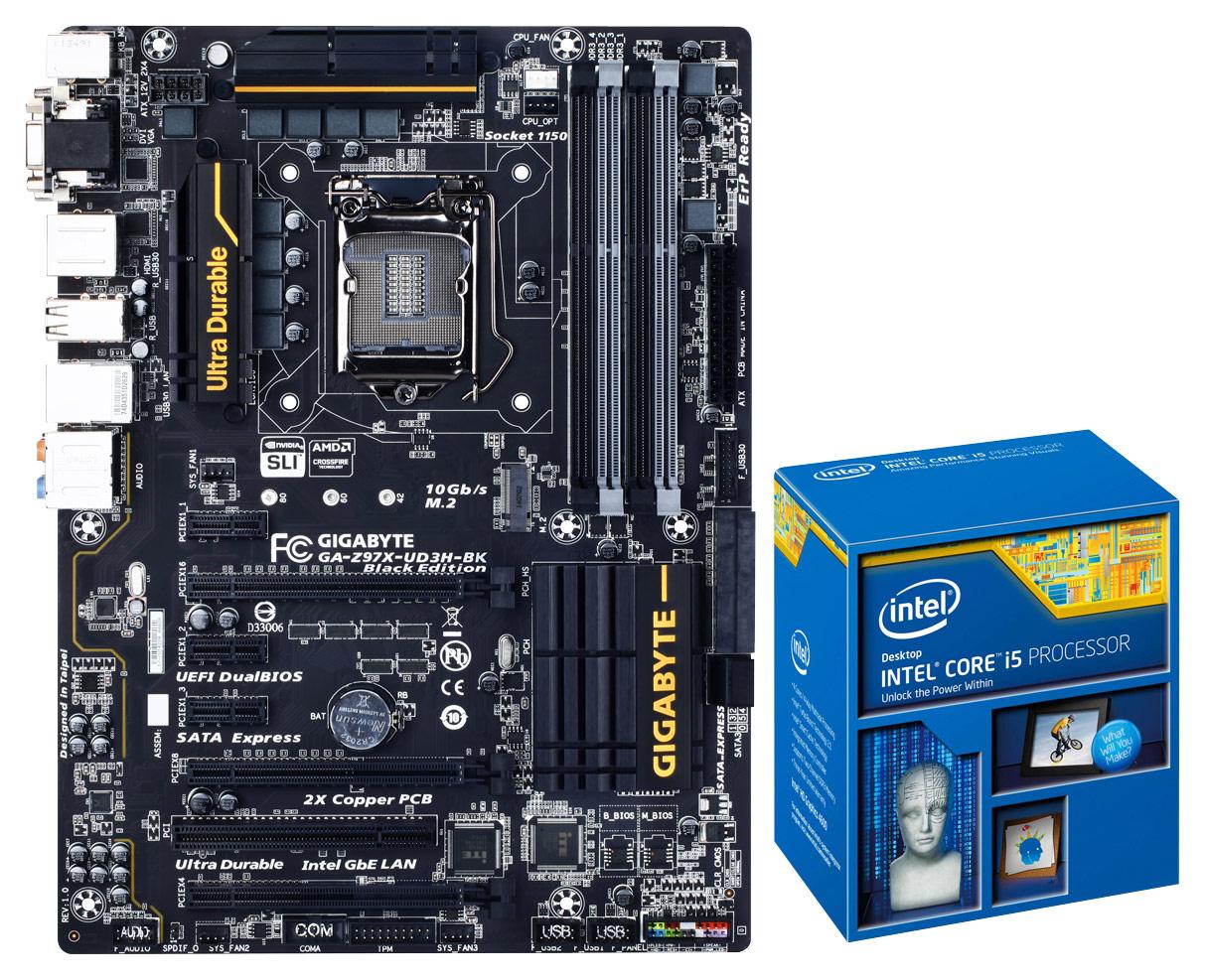 GIGABYTE - ATX Motherboard 1600/2933/3000MHz (Socket LGA 1150) and Intel® Core™ i5-4690K Processor - Multi