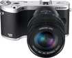 Samsung - NX300 Compact System Camera with 18-55mm Lens - Black