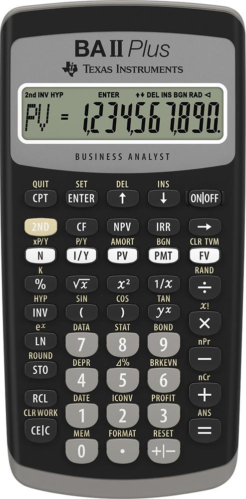 Texas Instruments - BA II PLUS Financial Calculator