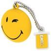 Emtec - Smiley World 8GB USB 2.0 Flash Drive - Yellow