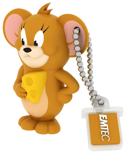 Emtec - Tom and Jerry 8GB USB 2.0 Flash Drive - Brown