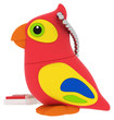 EMTEC - Animals in The Jungle 8GB USB 2.0 Flash Drive - Red/Yellow/Blue