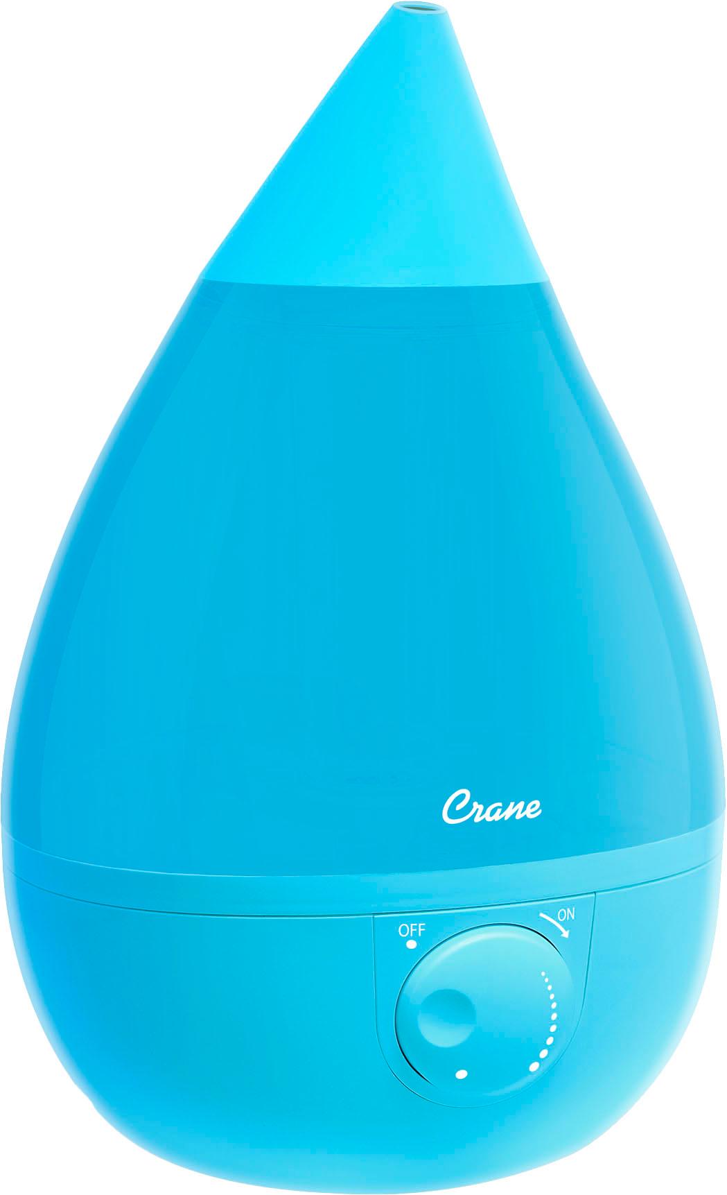 Crane - 1-Gal. Ultrasonic Drop-Shape Humidifier - Blue