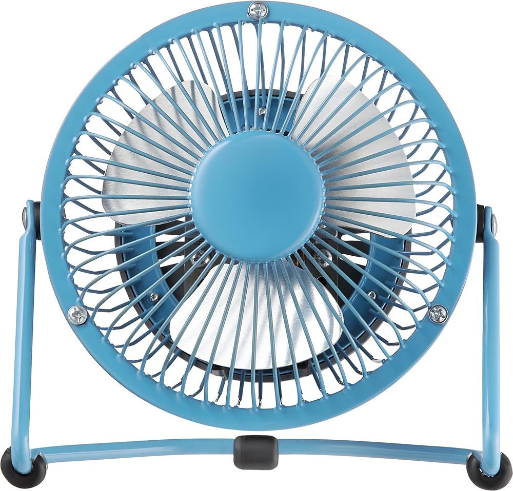"Insignia™ - High-Velocity 4"" Mini Fan - Blue"