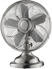 "Insignia™ - 12"" Retro Table Fan - Stainless-Steel"