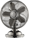 "Insignia™ - 12"" Retro Table Fan - Gun Metal"