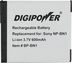 DigiPower - BN1 Regarchargeable Lithium-Ion Battery - Black