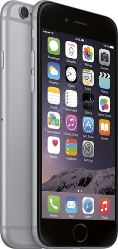Boost Mobile - Apple® iPhone® 6 16GB No-Contract Cell Phone - Space Gray