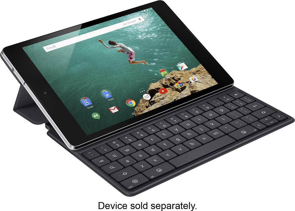 HTC - Keyboard Folio Case for Google Nexus 9 Tablets - Black