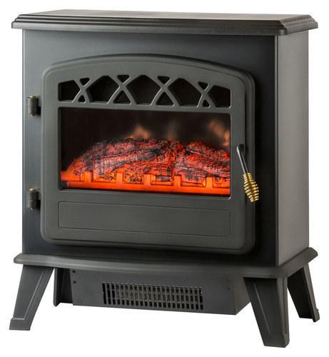 Warm House - Ottawa Floorstanding Electric Fireplace - Black