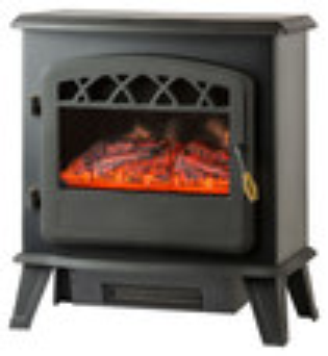 Frigidaire - Ottawa Floorstanding Electric Fireplace - Black
