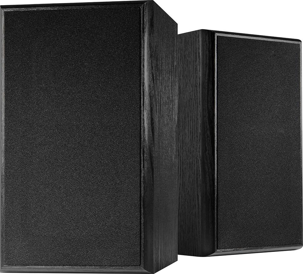 """Dynex™ - 4"""" 2-Way Bookshelf Speakers (Pair) - Black"""