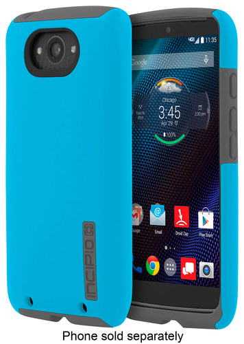 Incipio - DualPro Case for Motorola Droid Turbo Cell Phones - Cyan/Gray