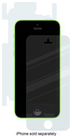 OtterBox - Clearly Protected 360 Screen Protector for Apple® iPhone® 5c - Clear
