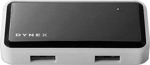 Dynex™ - 4-Port USB 2.0 Hub - Black