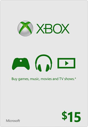 Microsoft - $15 Xbox Gift Card - Green