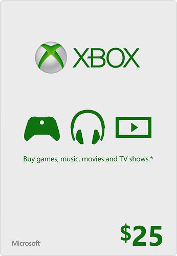 Microsoft - $25 Xbox Gift Card - Green