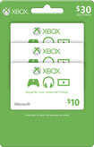 Microsoft - $10 Xbox Gift Card (3-Pack) - Green