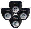 Night Owl - Security Dome Cameras (4-Pack) - Black