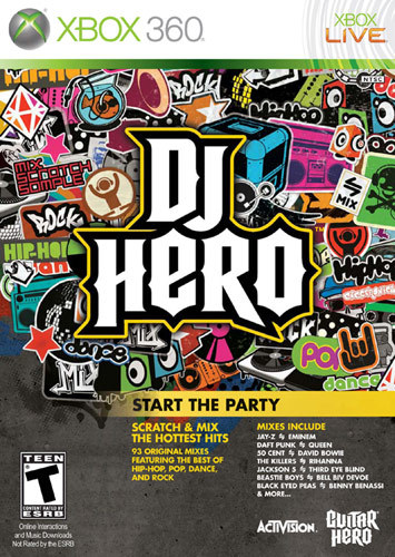 X360-DJ HERO 1 SOFTWARE...