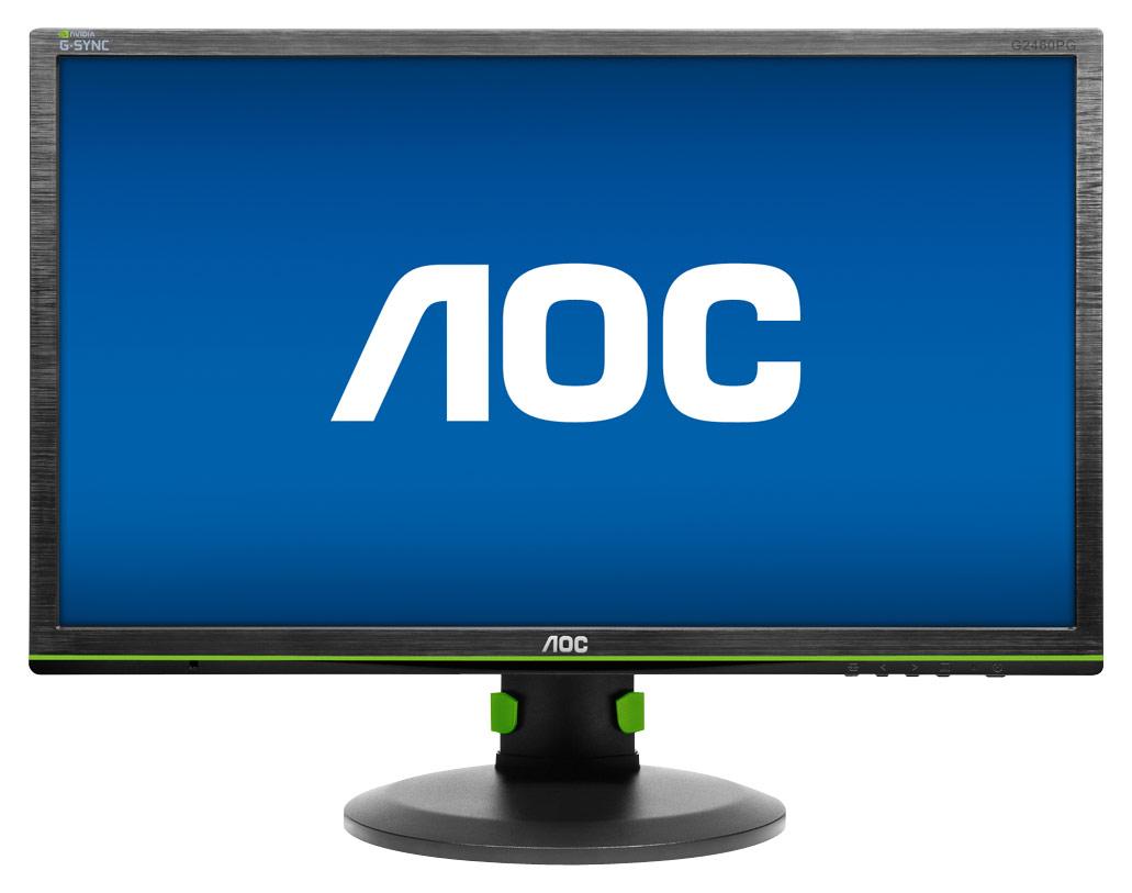 AOC - G-Sync 24 LED Gaming Monitor - Black/Green