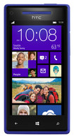 HTC - Windows Phone 8X Cell Phone (Unlocked) - Blue