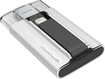 SanDisk - iXpand 64GB USB 2.0/Lightning Flash Drive - Silver/Black