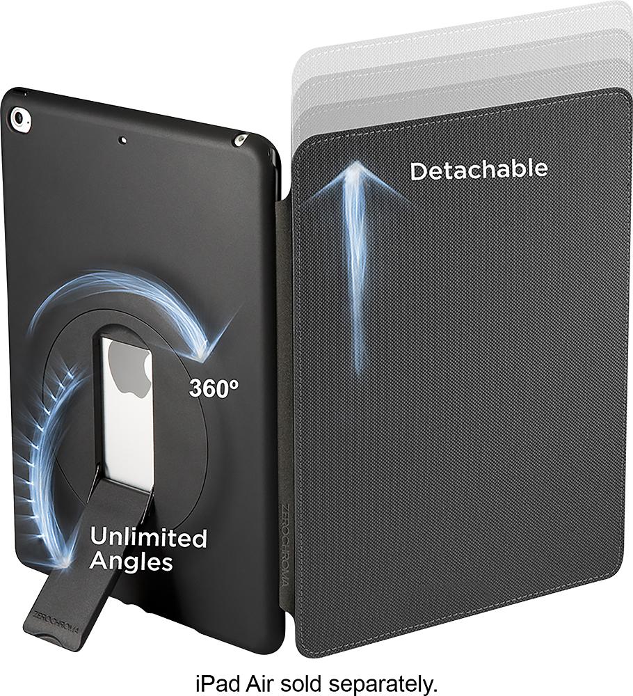 ZeroChroma - Folio-Slide Case for Apple® iPad® Air and iPad Air 2 - Black