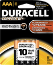 Duracell - AAA Batteries (8-Pack) - Black