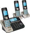 VTech - DS6751-3 DECT 6.0 Expandable Cordless Phone System with Connect to Cell Digital Answering System - Champagne/Black